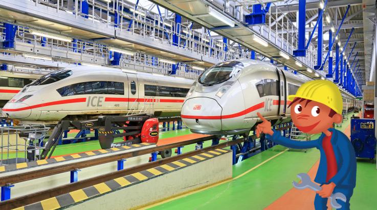 ICE-Werk Frankfurt Griesheim; Bild: DB AG / Uwe Miethe / Titus Ackermann (DB166673)