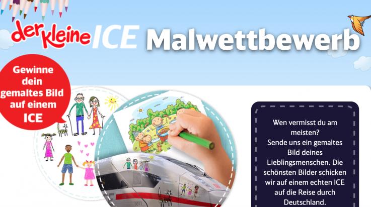 Der kleine ICE Malwettbewerb; Bild: DB AG / kleiner ICE