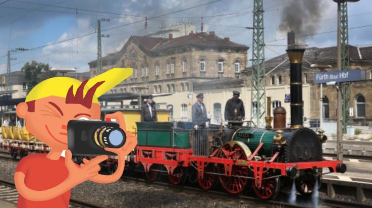 """Die historische Lokomotive """"Adler"""" / Bild: DB AG / Martin Busbach"""