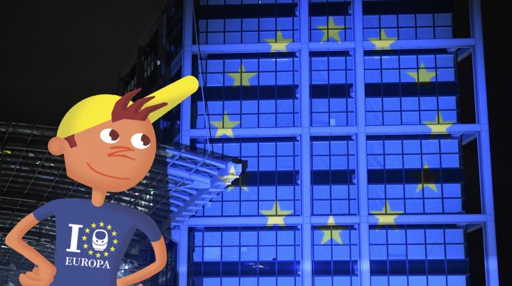 Europaflagge / Deutsche Bahn AG/Oliver Lang / Grafik: Titus Ackermann