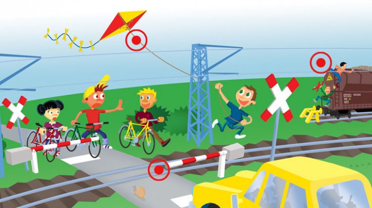 Suchbild Oli am Bahnübergang / Grafik: DB/Titus Ackermann