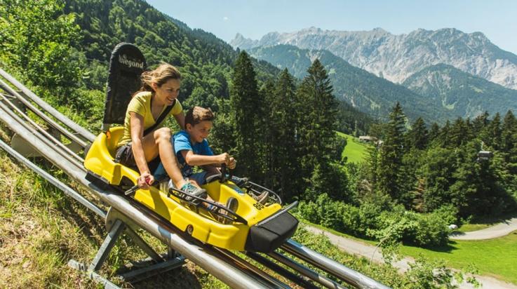 Mit dem Alpine Coaster am Golm © Illwerke Tourismus