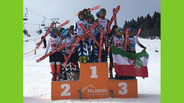 Die Gewinner der Jungen vom Ski-Alpin beim Winterfinale 2016 © DB AG