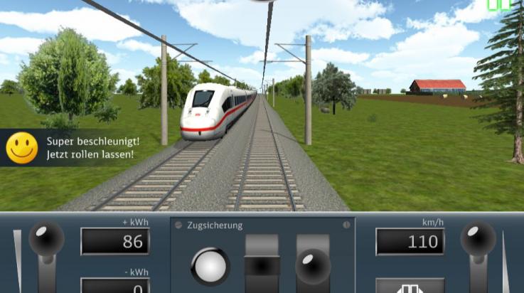 selbst Lokführer sein - im Fahrsimulator; Bild: DB
