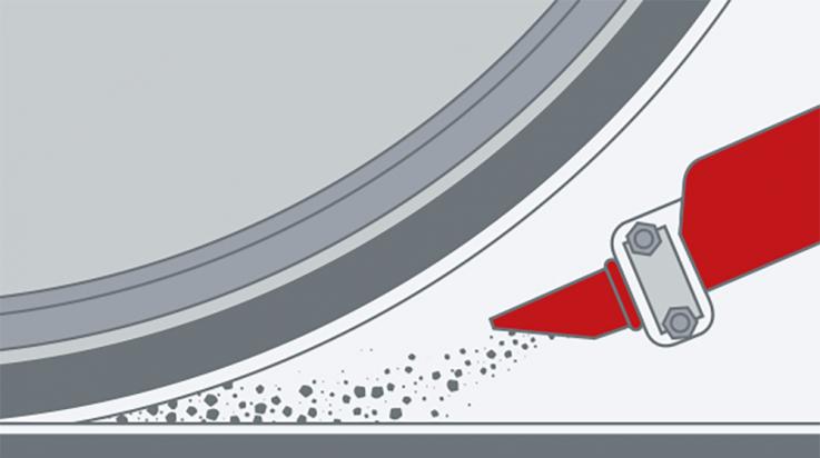 Hilft beim Bremsen: So kommt der Sand unters Rad © C3 Visual Lab