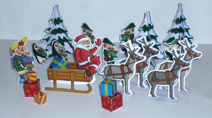 Weihnachtslandschaft zum Basteln; Bild: Titus Ackermann