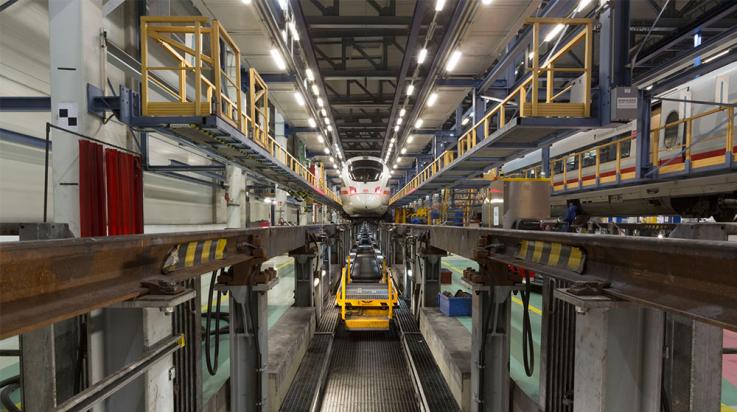 ICE im Werk Rummelsburg © DB AG