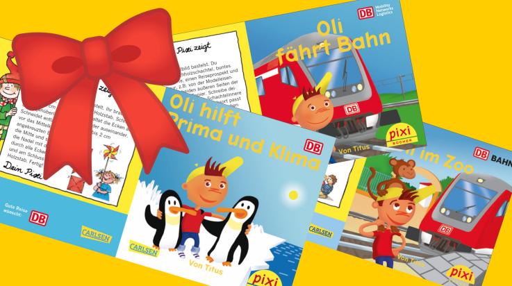 Oli-Pixi-Bücher; Bild: DB AG / Titus Ackermann / Carlsen